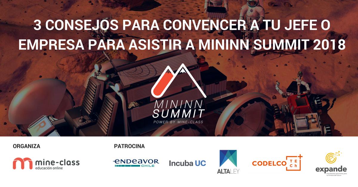 3 Consejos para convencer a tu jefe/empresa para asistir a Mininn Summit 2018