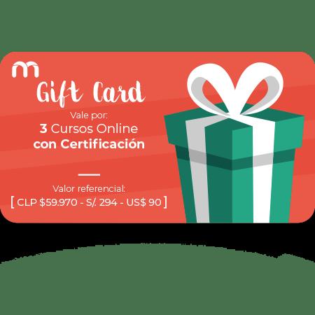 Gift Card 3 Cursos Online con Certificación